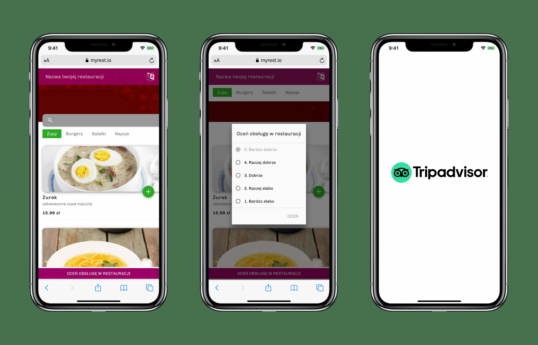 QR telefony dla restauracji – myREST SmartMenu